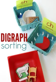 digraph sorting literacy activity - great for sh ch and th skills!