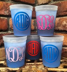 Color Changing Cups with Monogram, Custom, Personalized, Mood Cups, Color Change, Plastic, Tumblers, Party, Favor, Birthday