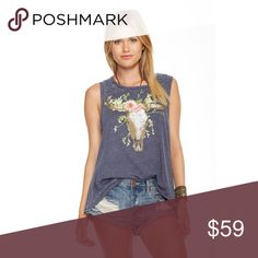 🎉HP🎉 🆕 Cow Skull Flowers Chaser Tank Our Cow Skull Flowers Chaser Tank is the perfect blend of girly and edgy. Super soft, comfy and the perfect fit, need we say more? BRAND NEW WITH TAGS. 🎉 HOST PICK 5/31 BEST IN BOUTIQUES 🎉  🌸Vintage jersey flouncematerial 🌸High-low cut 🌸60% cotton, 40%polyester Chaser Tops