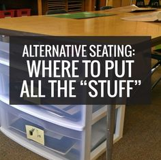 You asked about how we have alternative seating setup and I've answered lots of alternative seating questions! One I haven't covered was where to put all of the students' things… you know, their stuff. Because we have pencil boxes, workbooks, writing notebooks or journals, etc. Here is how I went about storing and organizing student …