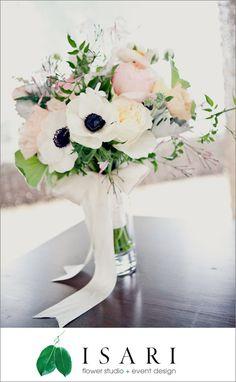 Bridal bouquet by Isari Flower Studio, photo by onelove photography | junebugweddings.com