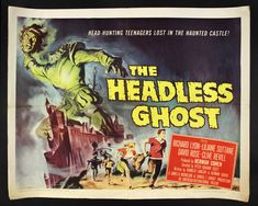 The Headless Ghost is a British comedy/horror B movie from 1959. Three college students take a day trip from London to Ambrose Castle. The earl leads the tour and references the castle's ghosts. The intrepid three hide when the castle closes to see if the ghosts are real. In the castle's deepest recesses, obstacles abound: a cat and a rat, a rattler, an ax-swinging suit of armor, and revelers entertained by a slave's dance. Can the three overcome conflicts to help a ghost get ahead?