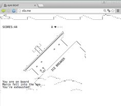 Multiplayer ascii art game. AJAX BOAT http://sfa.me #multiplayer #game #indie #ascii #art #asci_art #asciiart #ajaxboat #ajax #boat #sfame
