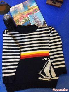 Мне нравится когда у мальчиков свитер не только удобный и практичный, но и яркий, красивый и приносит ребенку радость! Особенно мне нравится морская тематика.