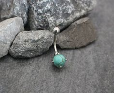 Belly Button Rings Turquoise Belly Piercing Navel by MyBodiArt