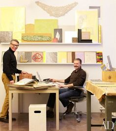 Alpha Workshops' executive director Kenneth Wampler (standing) and project manager Ed Farrell.