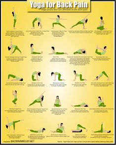 Yoga For Back Pain Infographic