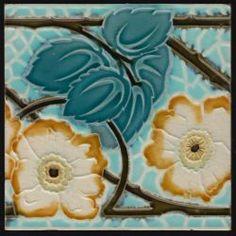 Gilliot Art Nouveau tile