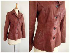 70's Sally & John NY Brownish Burgundy Leather by ElkHugsVintage