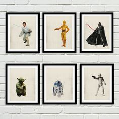 Star Wars Poster Art Print Polygon Wall Decor by TheRetroInc
