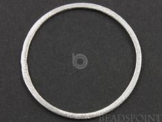 Brush Sterling Silver Flat Round Earring Component by Beadspoint, $9.99