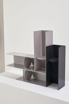 디자이너들이 만든 스튜디오 컬렉션 #6 바이정뉴 : 네이버 블로그 Shelving Design, Shelf Design, Cabinet Design, Ikea Furniture, Modern Furniture, Furniture Design, Bauhaus Furniture, Bookcase Shelves, Retail Interior