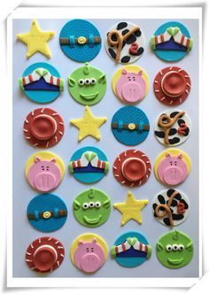 Set of 12 or 24 Toy Story cupcake toppers by SugaryLand on Etsy