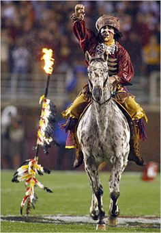 FSU Seminole Football. Renegade & Osceola.