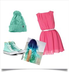 """""""Mint and peach"""" by abtothey on Polyvore"""