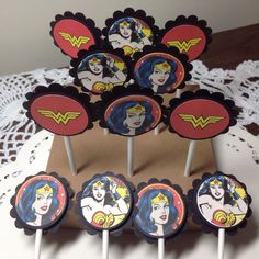 A personal favorite from my Etsy shop https://www.etsy.com/listing/273807372/just-12-super-hero-cupcake-toppers