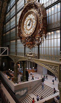 Le Musée d'Orsay ~ Entrée ~ Grande horloge