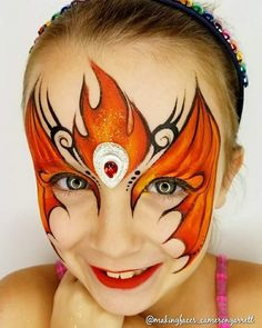 Tribal flames mask - crown