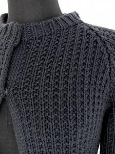 hand knitted cardigang handgestrickter Cardigan