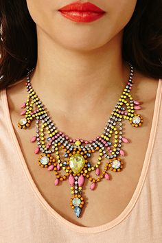 summer colors! collar necklace