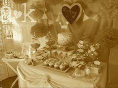 Vintage high tea party