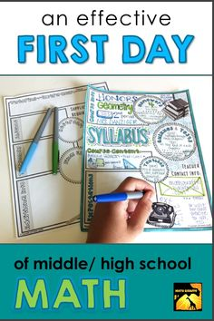 How to Plan an Effective First Day of Class What to do on the first day of math class – Free activities for middle and high school back to school season First Day Of School Activities, First Day Of Class, 1st Day Of School, Middle School Classroom, Math Classroom, Classroom Ideas, Seasonal Classrooms, Classroom Board, Classroom Resources
