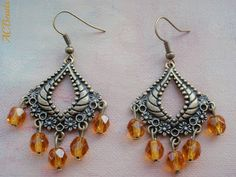 Chandelier earrings with Czech crystal beads #giveaway