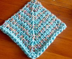 Mitred Square Dishcloth Pattern from Nicole of Tunisian Crochet Chick
