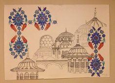 Turkish Design, Turkish Art, Turkish Tiles, Islamic Tiles, Islamic Art, Tile Murals, Islamic Calligraphy, Traditional Art, Vintage World Maps