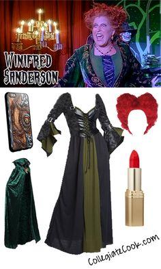Winifred Sanderson Hocus Pocus Costume - Collegiate Cook Hocus Pocus Halloween Costumes, Halloween Ball, Hallowen Costume, Halloween Movies, Halloween 2017, Diy Costumes, Halloween Diy, Costume Ideas, Halloween House