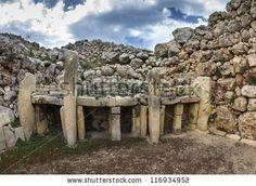 Malta Island, Gozo, The Ruins Of Ggantija Temples (3600-3000 Bc ...