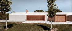Located in Fontanars dels Alforins, Valencia, Spain, Cottage in the Vineyard is a retreat designed by Ramón Esteve Estudio in Contemporary Barn, Contemporary Architecture, Cottage Design, House Design, Timber Planks, One Storey House, Rural House, Modern Cottage, Flat Roof