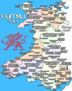 Cymru (Wales) in Cymraeg (Welsh). Source: The Decolonial Atlas Wales Uk, South Wales, Cities In Wales, Map Of Wales, Welsh Sayings, Learn Welsh, Welsh Language, Snowdonia National Park, Wales