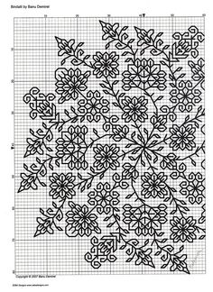 Fabulously intricate Blackwork pattern of 3 Motifs Blackwork, Blackwork Cross Stitch, Blackwork Embroidery, Cross Stitching, Cross Stitch Embroidery, Embroidery Patterns, Cross Stitch Designs, Cross Stitch Patterns, Cross Stitch Flowers