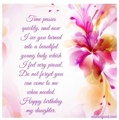 Birthday Quotes For Daughter Wishes Sister Messages My