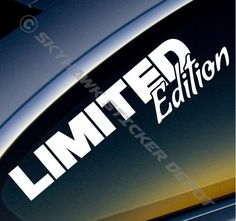 Limited Edition Bumper Sticker Vinyl Decal JDM Honda Jeep Hatchback Drift Turbo