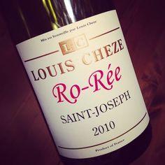 Domaine Louis Chèze Saint-Joseph Cuvée Ro-Rée 2010 #dansmonverre