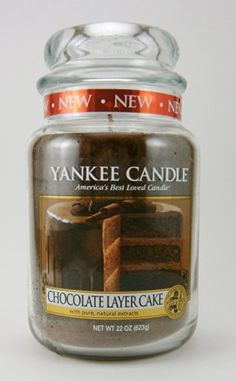 Yankee Candle Chocolate Layer Cake Large Jar Candle *** Find out more about the great product at the image link. Yankee Candles, Scented Candles, Candle Jars, Candle Holders, Wax Melts, Willy Wonka, Bath, Chocolate Box, Lights