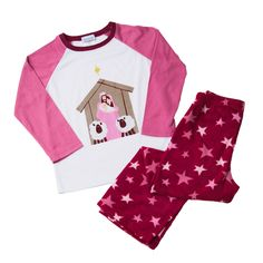 Girl's Nativity Christmas Pajamas! Bibamas are the first children's pajamas designed with biblical heroes! These Christmas pajamas show the Christmas Nativity Scene. So cute and festive! And remind our children of the true reason for the season.