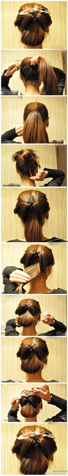 Beautiful hair style! I'm going to have to try this out.
