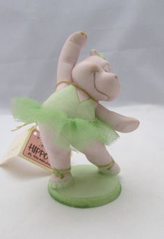 Check out George Good Figurine Hippo Ballerina  Hippo-ettes on timegonebyvintage