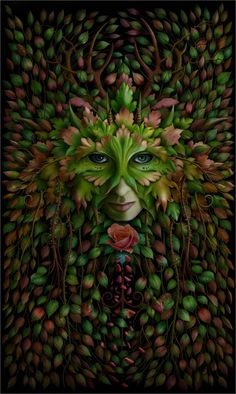 Green Woman - Fantasy Art,  J E. Shannon