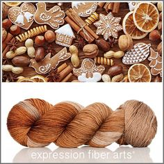 Gingerbread - resilient sock yarn - Expression Fiber Arts