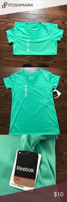 Reebox workout shirt Brand new reebox workout shirt; mint green Reebok Tops Tees - Short Sleeve