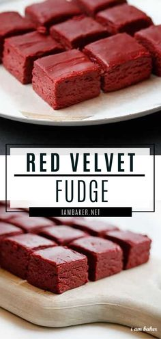 Feb 2020 - A fancy Valentine's Day dessert recipe? Try making this Red Velvet Fudge! This treat is so easy to make and will definitely impress your date and even the whole family. Make this dessert for a romantic dinner at home! Finger Desserts, Mini Desserts, Quick Easy Desserts, Indian Desserts, Desserts To Make, Baking Desserts, Homemade Desserts, Red Velvet Desserts, Red Velvet Recipes