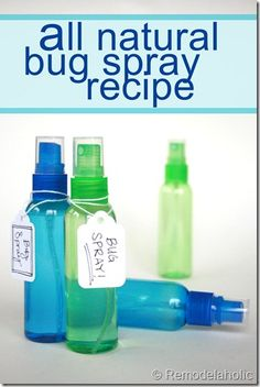 homemade natural bug spray recipe
