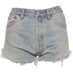Ark Light Wash Denim Levis Shorts (115 BRL) ❤ liked on Polyvore featuring shorts, bottoms, short, pants, light wash shorts, levi's, levi shorts, denim shorts and denim short shorts