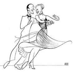 'fred astaire and ginger rogers' by al hirschfeld