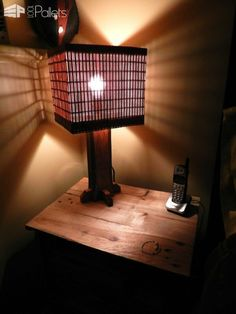 31 of the Most Stunning Lamps Made From Reclaimed Pallets Pallet Lamps, Pallet Lights & Pallet Lighting