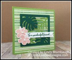 SU Tropical Chic Corner Pop Up Fun Fold Video | Cindy Lee Bee Designs